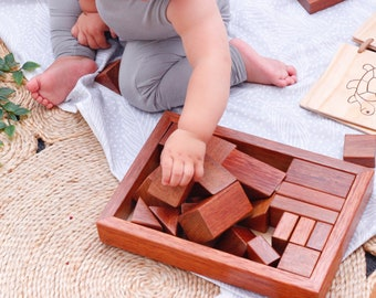 Wooden Blocks // Baby Building Blocks // Children's Timeless Toys // Timber Stacking Toy