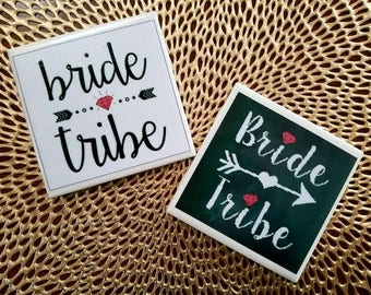 Bridesmaid Coasters | Bridesmaid Gift | Bride Tribe | Bachelorette Party | Wedding Party | Special Occasion | Tile Coasters | Unique Gift