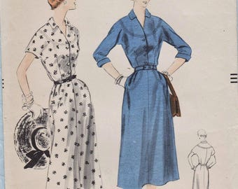 Vogue 7955 / Vintage 50s Sewing Pattern / Dress / Size 16 Bust 34
