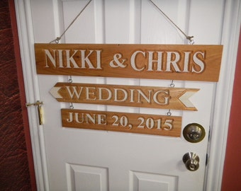Wedding Sign, Rustic Wood, Directional, Various Woods, Beach Wedding Decor, Country Wedding Decor, Beach Signs, Personalized Wood Signs