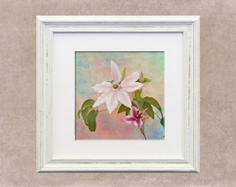 Florals: spring, flowers, tropical, pastels, cottage chic, nature, home decor, spring, pink, bontanical print