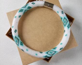 Beaded necklace, original necklace of beads, beadwork, Handmade necklace