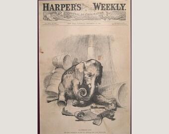 GOP Elephant – Grant – 1887