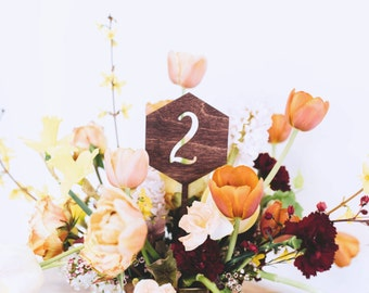 Honeycomb Centerpiece Table Numbers