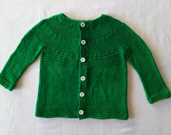 Knitted baby sweater 12-18 months