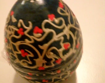 Easter eggs-olive tree wood-hand painted-deco