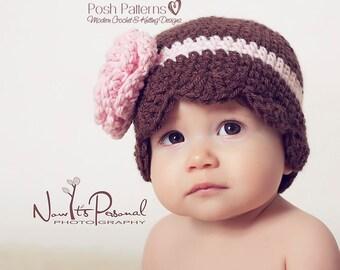 Crochet PATTERNS - Crochet Hat Pattern - Crochet Patterns Babies - Crochet Pattern Hat - Includes Baby, Toddler, Kids, Adult Sizes - PDF 196