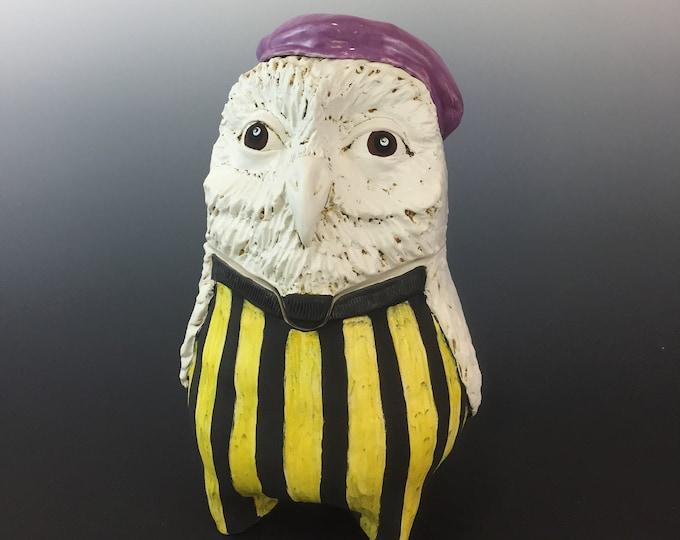 Ceramic French Owl Jar