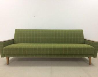 Midcentury vintage green sofa bed