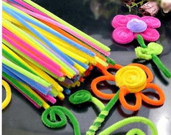 Multicolour (x100 pcs) Chenille Stems Pipe Cleaners