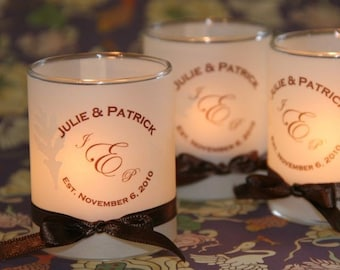 SALE 120, 140, 160, 180, or 200 Place Card / Name Card / Escort Card / Wedding Favor / Vellum Candle Votive wraps for straight sided votives