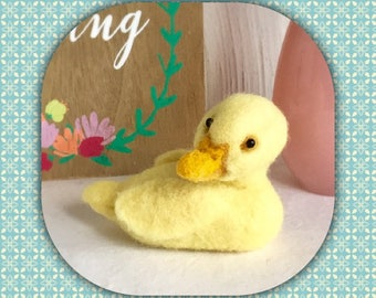 Duckling - Easter Gift - Needle Felted Duckling - Needle Felted Animal - Felted Bird
