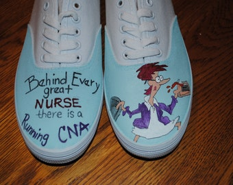 """For Sale New CNA design """" Behind Every great NURSE there is a Running CNA""""  for sale size 8.5 ready to ship"""