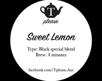 Sweet Lemon loose leaf tea
