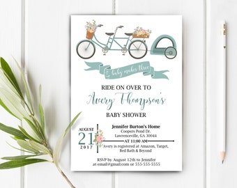 Bicycle Baby Shower Invitation, Item 224