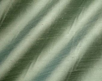 LEEK 2086-1D [2089+90-2G] -  Pure Silk Dupioni Fabric - Handwoven By the Yard