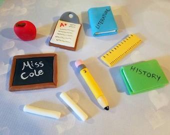 Fondant Teacher Classroom School Cake Decorating Set