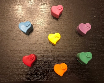 Valentine's Swirl Heart Crayons Favors 10-25 bags