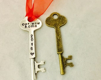 Our New Home Our 1st Home My First Home My New Home Christmas Ornament Personalized Christmas Skeleton Key Ornament