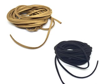 0.5 m suede, 3 mm thick, brown / black