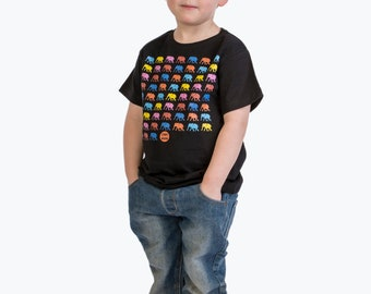 Earth day sale - Ethically made - Kids rainbow elephant organic t-shirt - vegan safe inks - eco friendly -environmentally friendly - fair tr
