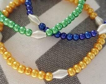 St Vincent Inspired Stretchy Bracelets