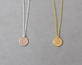 Engraved Initial L Necklace