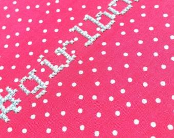 "Girlboss KIT or GIFT embroidery 6"" hanging mental health charity awareness diy gift cross stitch kit pink birthday girl #girlboss hashtag"