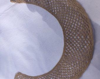 Collar Guipure french vintage cotton lace café au lait