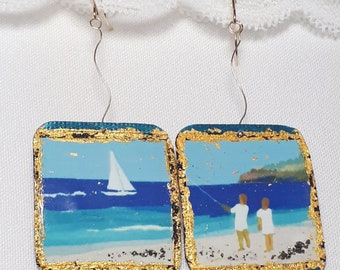 Earrings Recycled / Gold