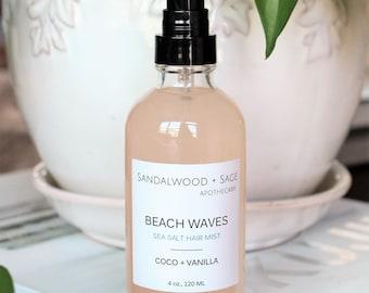 Beach Waves // Sea Spray Mist // Coconut-Vanilla Sea Salt Hair mist // Hair texturizer // Ocean Hair // Sea Salt Hair
