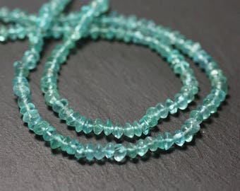 20pc - stone beads - Apatite Rondelles 4-5mm - 8741140012110 abacus claire