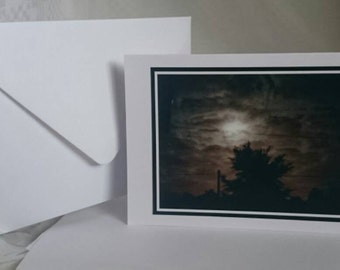 Photography A6 Blank Greetings Card,  stormy night 1 (C252015)