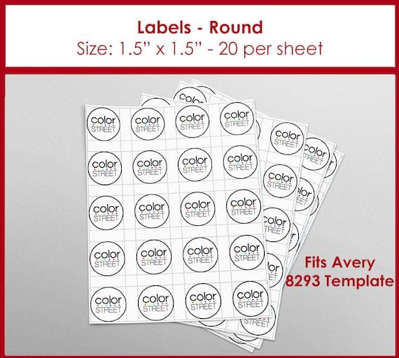 Color Street Labels Round Instant Download 15 Diameter
