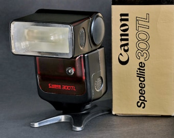 Canon 300TL Speedlite TTL Flash w Case 4 Ae-1 A-1 Ae-1P t70 T90 MiNTY ! except for...