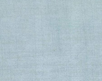 Blue Textured Fabric - Grunge Basic by BasicGrey for Moda Fabrics 30150 60 Light Blue - Priced by the 1/2 yard