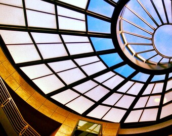 "Sky Light Circle Blue Up Pattern Architecture 8x8"" photo San Francisco Library"