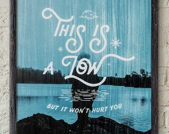 This Is A Low - Blur Britpop Poster Print Gig Lyrics Damon Albarn Gorillaz