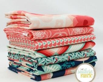Florabelle - Sedona by Joel Dewberry  7 Half Yard Bundle Quilt Fabric - for Free Spirit