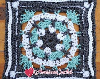 Rebecca Circle in A Square Crochet Pattern
