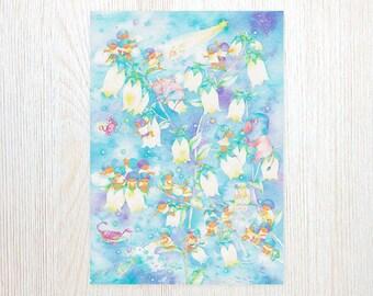 The Bellflower of Starry Sky Art Print FA4-0387