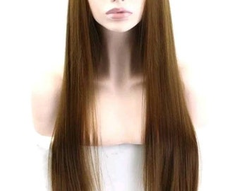 brown lace front wig Free part lace front wig