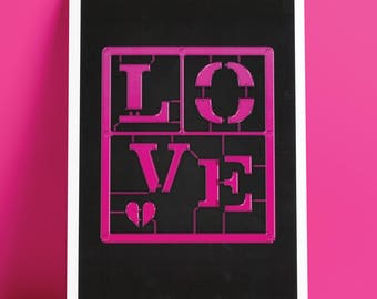 Make:Love. Typographic Art Print.