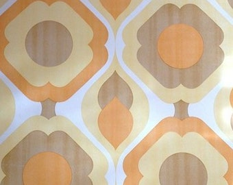 1960s GEOMETRIC ORIGINAL VINTAGE Mod Pod Wallpaper 1970s Retro Vinyl Wallpaper