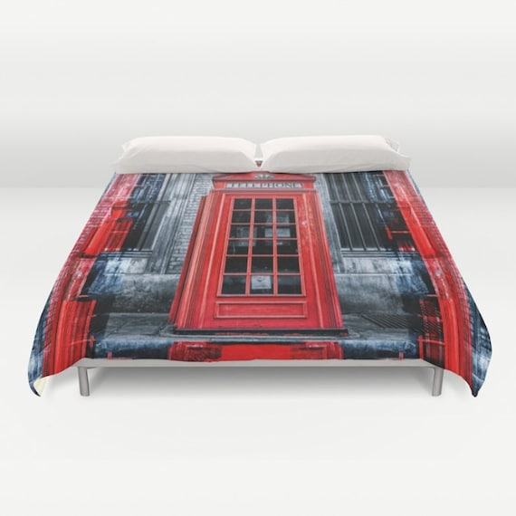 Duvet Cover London Telephone Booth Alone Queen 88 X