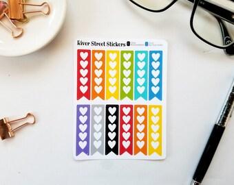 BOLD FULL Heart Checklist Planner Stickers