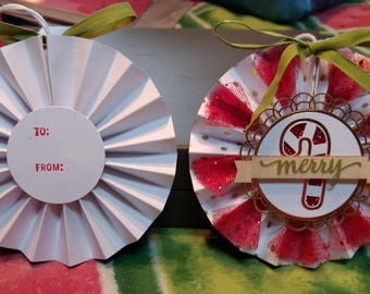 Paper crafted combination ornament with to and from on back