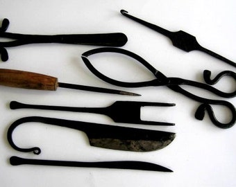 7 pc Medieval cutlery set