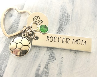 Soccer Mom Key Chain|  Keychain | Sports Mom | Hand Stamped | Socc | Keychain for Mom | Sports Mom | Personalized key chain for Mom
