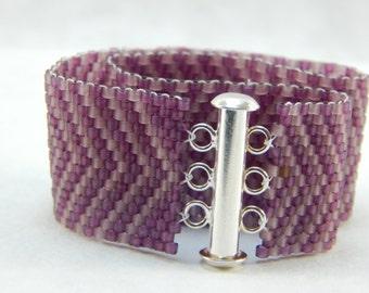 Beaded Bracelet - Seed Bead - Chevron Bracelet
